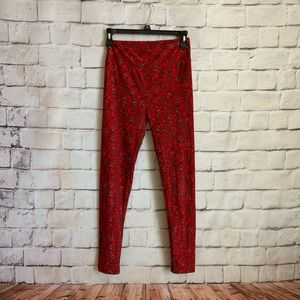 LulaRoe Leggings, Christmas Sledding,  One Size